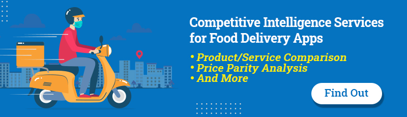Competitive Intelligence Services for food delivery Apps